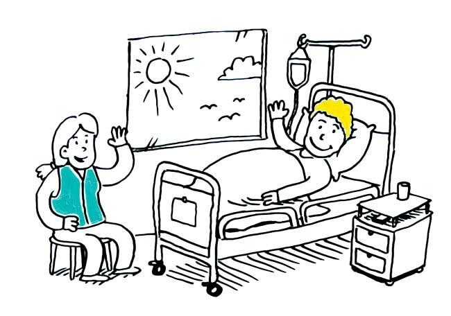 Vapaaehtoistoiminta sairaalassa